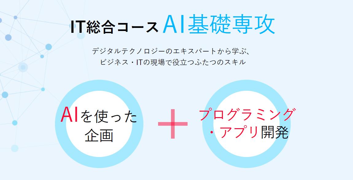 ヒューマンアカデミーIT総合コースAI基礎専攻講座内容・カリキュラム